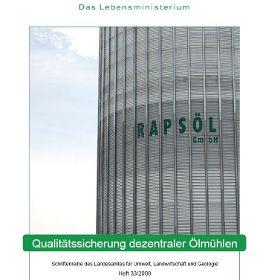 Qualitätssicherung dezentraler Ölmühlen